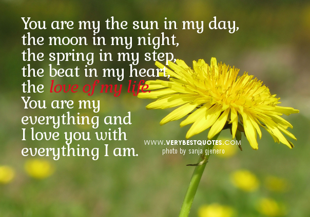 """ You Are My The Sun In My Day The Moon In My Night, The Spring In My Step The Beat In My Heart…   ~ Spring Quote"