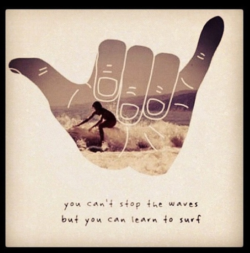 """ You Can't Stop The Waves But You Can Learn To Surf ""  ~ Summer Quote"
