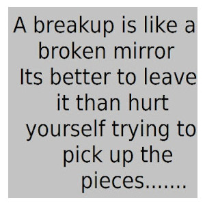 A Breakup Is Like a Broken Its Better To Leave It Than Hurt Yourself Trying To Pick Up The Pieces