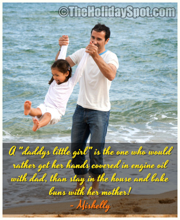 """A """"Daddys Little Girl"""" Is The One Who Would Rather Get Her Hands Covered In Engine Oil With Dad, Than Stay In The House And Bake Buns With Her Mother!"""