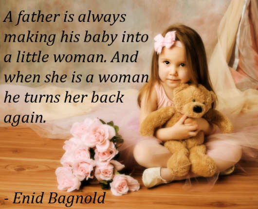 A Father Is Always Making His Baby Into a Little Woman. And When She Is a Woman He Turns Her Back Again