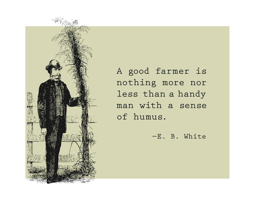 A Good Farmer Is Nothing More Nor Less Than A Handy Man With A Sence Of Humus