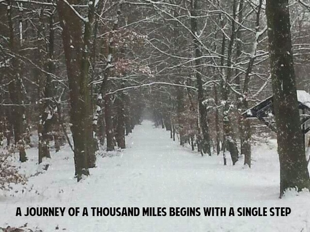 A Journey Of A Thousand Miles With A Single Step