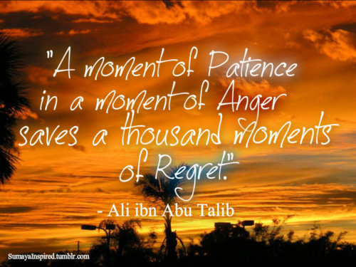 """A Moment Of Patience In A Moment Of Anger Saves A Thousand Moment Of Regret"""