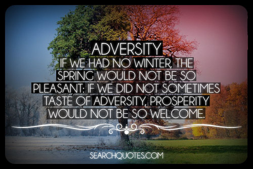 Adversity If We had No Winter The Spring Would Not Be So Pleasant, If We Did Not Sometimes Taste Of Adversity, Prosperity Would Not Be So Welcome