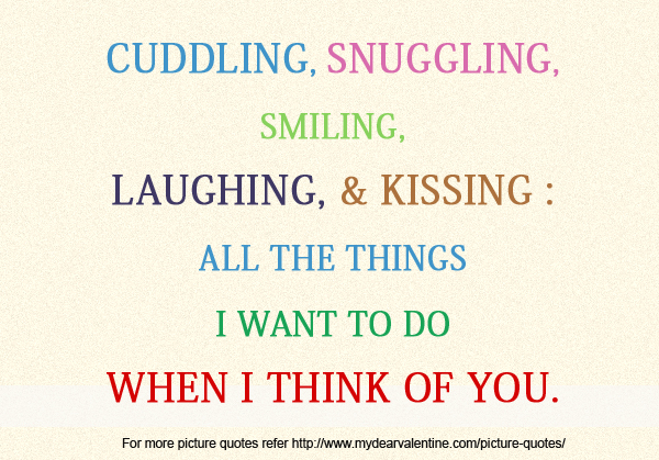 All The Things I Want To Do When I Think Of You
