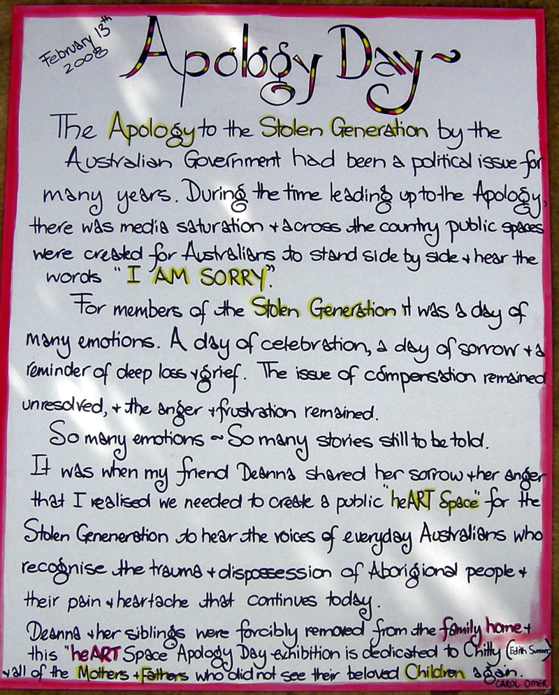 Apology Day Poster