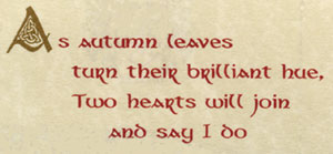 As Autumn Leaves Turn Their Brilliant Hue Two Hearts Will Join And