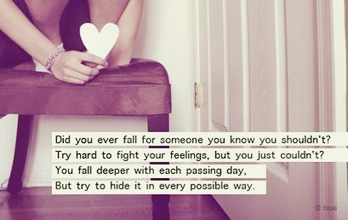 Did You Ever Fall For Someone You Know You Shouldn't!