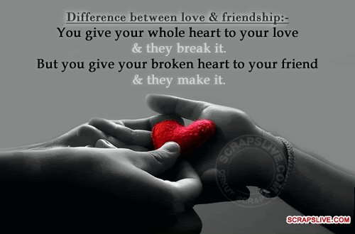 Difference Between Love & Friendship