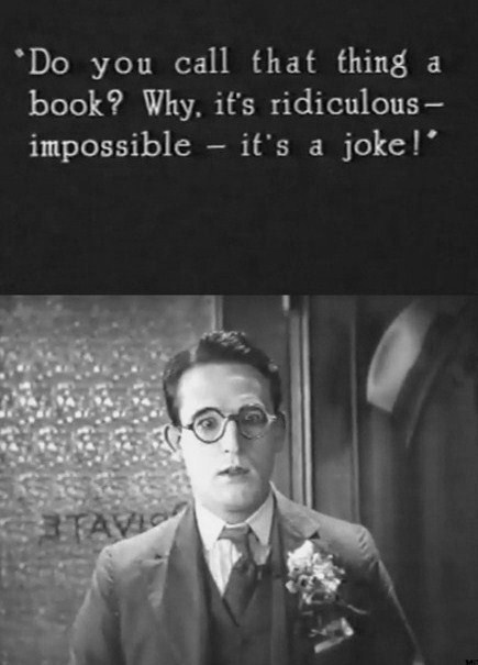 """""""Do You Call That thing a Book! Why, It's Ridiculous Impossible ~ Apology Quote"""