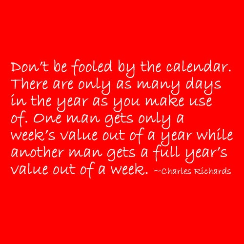 Don't Be Fooled By The Calendar