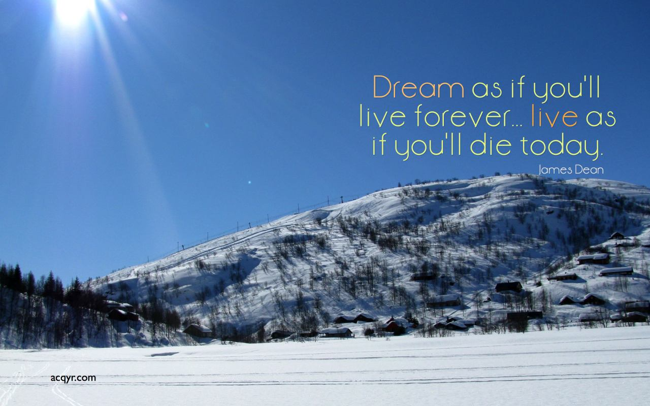 Dream As If You'll Live Forever, Live As If You'll Die Today