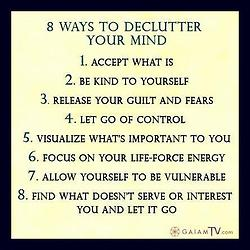 Eight Ways To Declutter Your Mind ~ Apology Quote