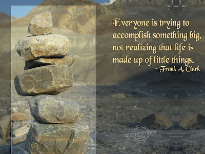 Everyone Is Trying To Accomplish Something Big Not Realizing That Life Is Make Up Of Little Things ~ Apology Quote