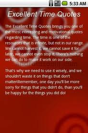 Excellent Time Quotes