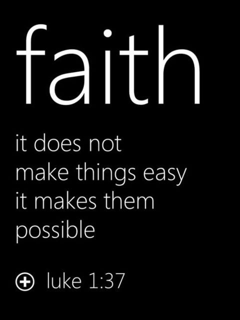 Faith, It Does Not Make Things Easy It Makes Them Possible