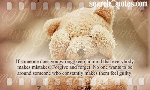Forgive And Forget ~ Apology Quote