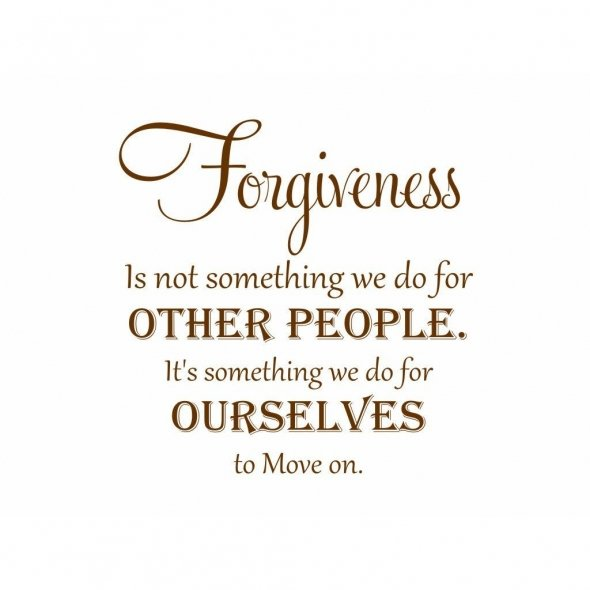 Forgiveness Is Not Something We Do For Other People It's Something We Do For Ourselves To Move On ~ Apology Quote