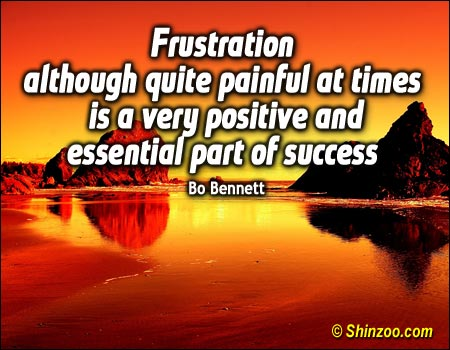 Frustration Although Quite Painful At Times Is a Very Positive And Essential Part Od Success