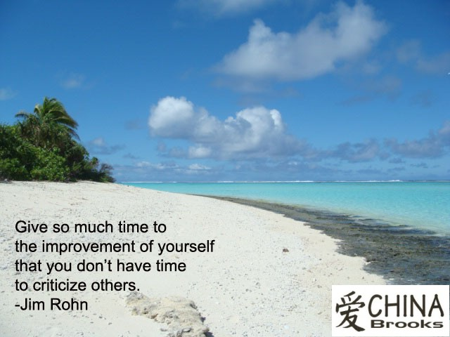 Give So Much Time To The Improvement Of Yourself That You Don't Have Time To Criticize Others
