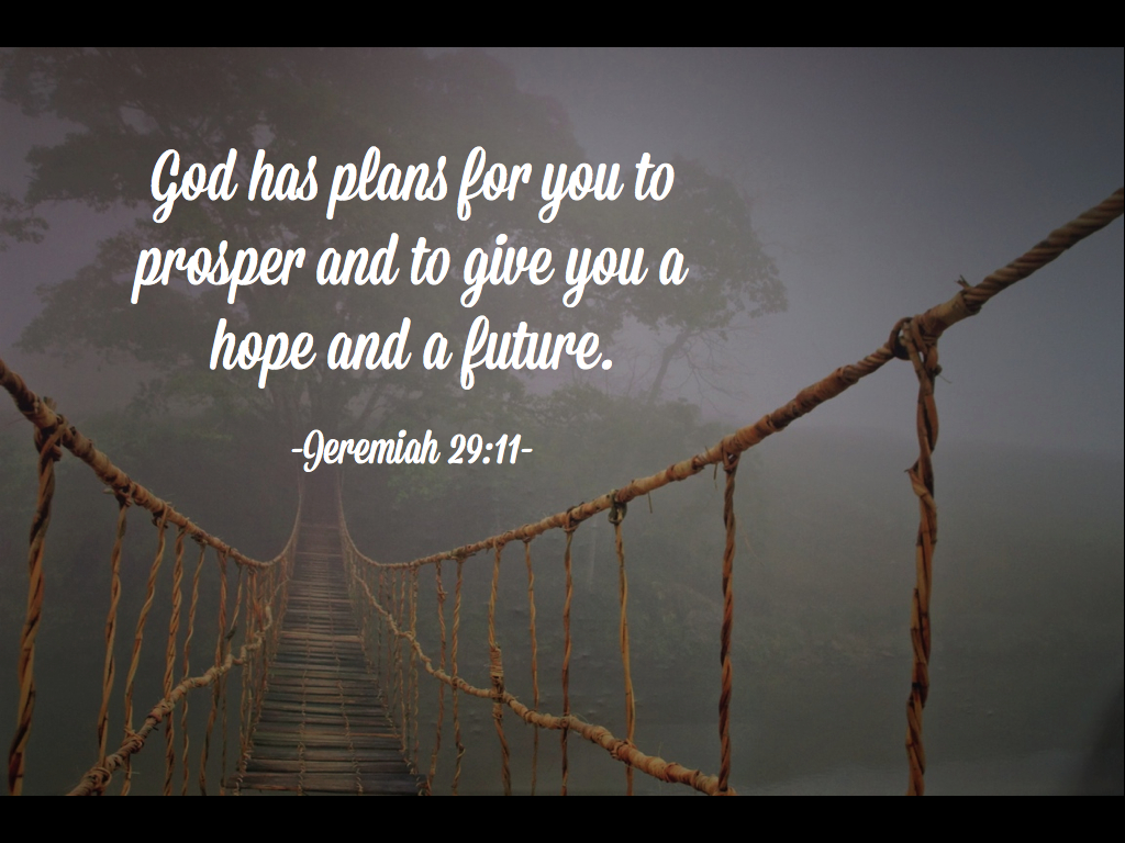 God Has Plans For You To Prosper And To Give You a Hope And ...
