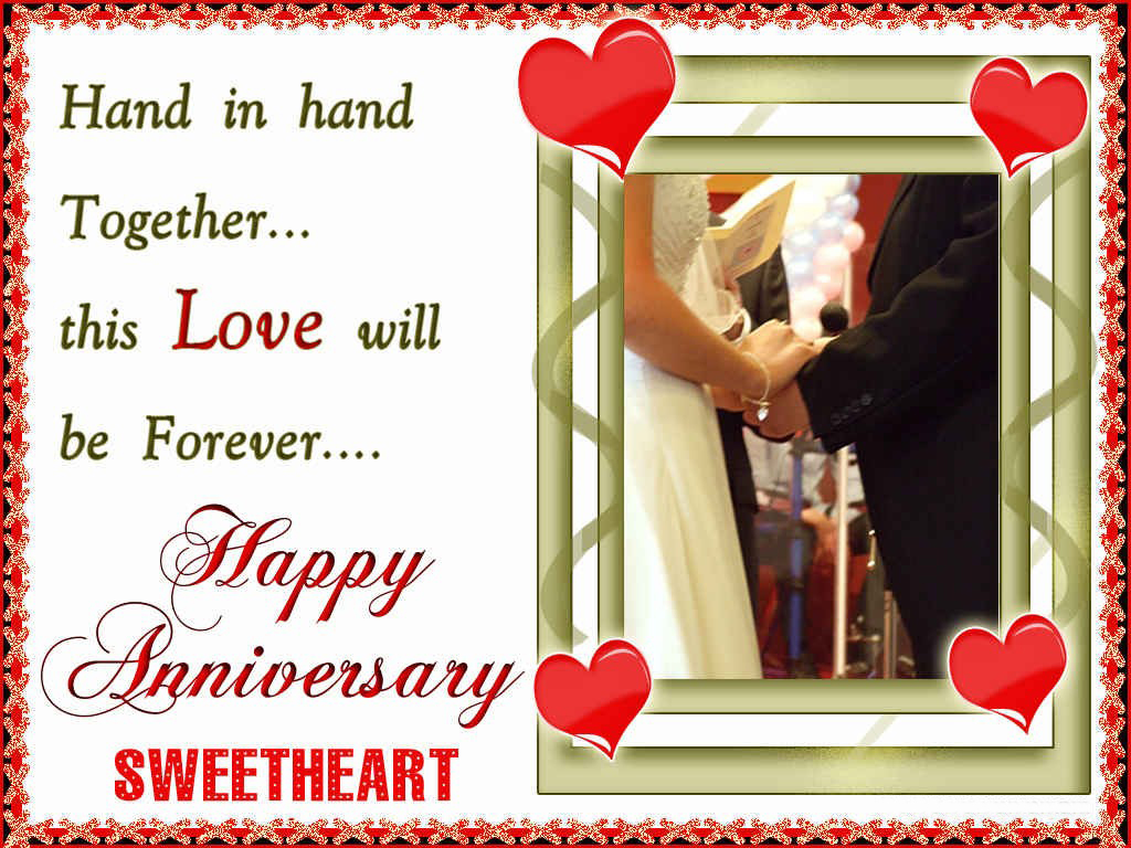 Hand In Hand This Love Will Be Forever. Happy Anniversary Sweetheart