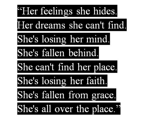Her Feelings She Hides. Her Dreams She Can't Find