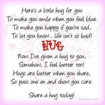 Here's a Little Hug For You To Make You Smile When You Feel Blue