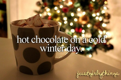 Hot Chocolate On A Cold Winter Day