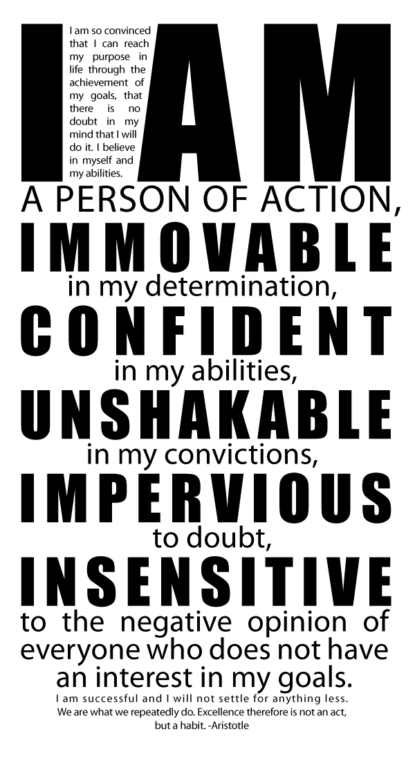 I Am A Person Of Action