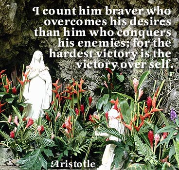 I Count Him Braver Who Overcomes His Desires Tham Him Who Conquers His Enemies For The Hardest Victory Is The Victory Over Self