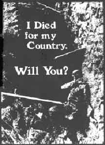 I Died For My Country. Will You!
