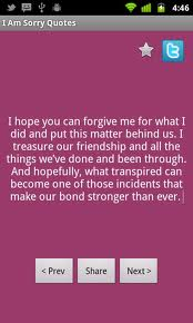 I Hope You Can Forgive Me For What I Did And Put This Matter Behind Us ~ Apology Quote