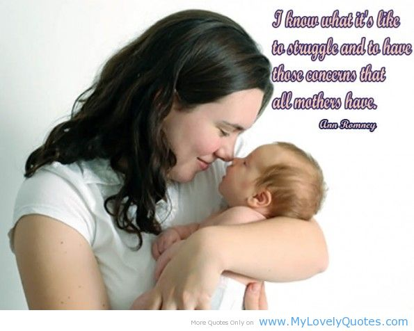 I Know What It's Like To Struggle And To Have Those Concerns That All Mothers Have