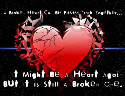 I Might Be A Heart Again But It Is Still A Broke One