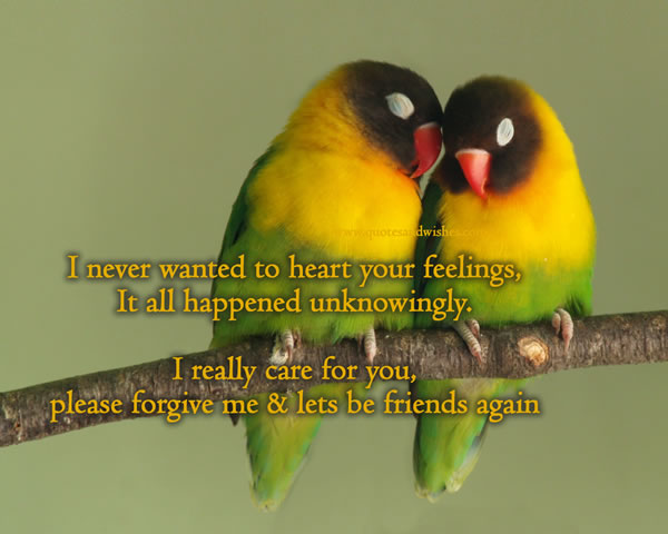 I Never Wanted To Heart Your Feelings ~ Apology Quote