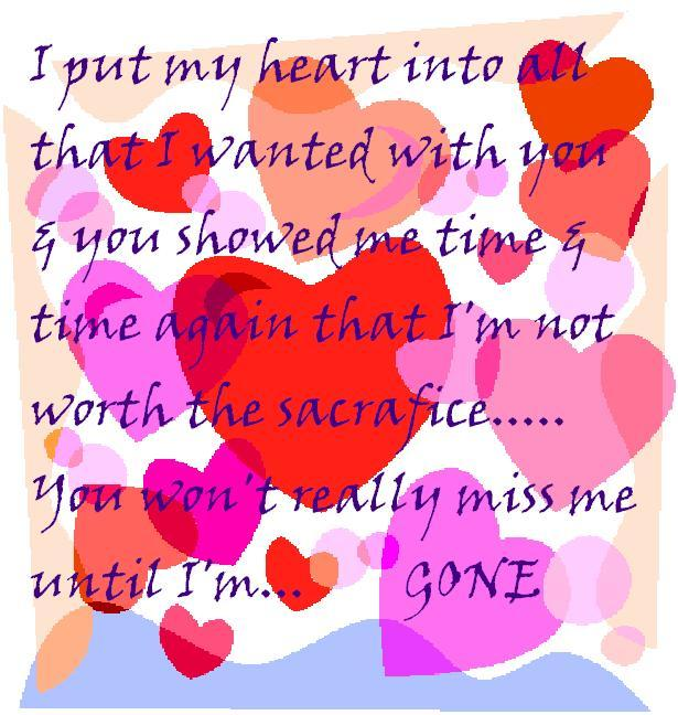 I Put My Heart Into All That I Wanted With You & You Showed Me Time