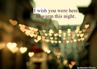 I Wish You Were Here To Warm This Night