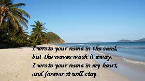 I Wrote Your Name In The Sand