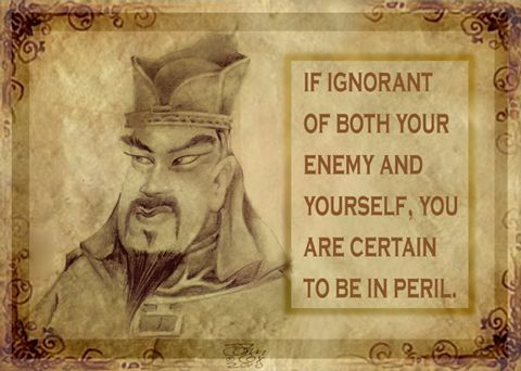 If Ignorant Of Both Your Enemy And Yourself, You Are Certain To Be In Peril
