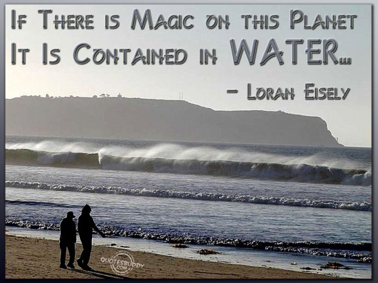 If there is magic on this planet, it is contained in water