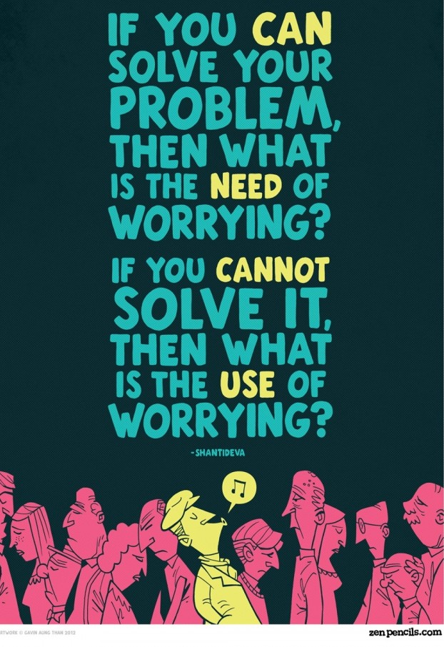 If You Can Solve Your Problem, Then What Is The Need Of Worrying! If You Cannot Solve It, Then What Is The Use Of Worrying!