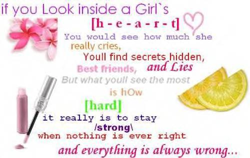 If You Look Inside a Girl's Heart