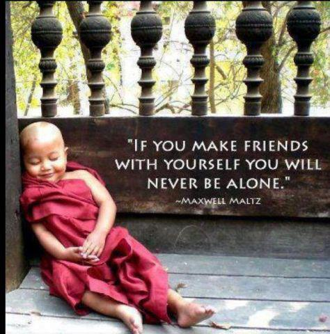 """If You Make Friends With Yourself You Will Never Be Alone"""