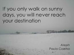 If You Only Walk On Sunny Days, You Will Never Reach Your Destination
