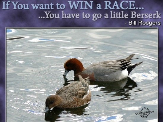 If You Want To Win A Race, You Have To Go A Little Berserk