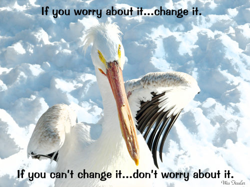 If You Worry About It, Change It. If You Can't Change It, Don't Worry About It