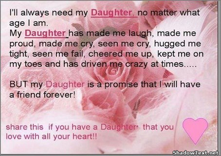 I'll Always Need My Daughter No Matter What Age I Am