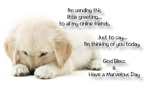 I'm Sending This Little Greeting To All My Online Friend, Just To Say I'm Thinking Of You